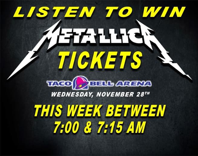 Win Metallica tickets