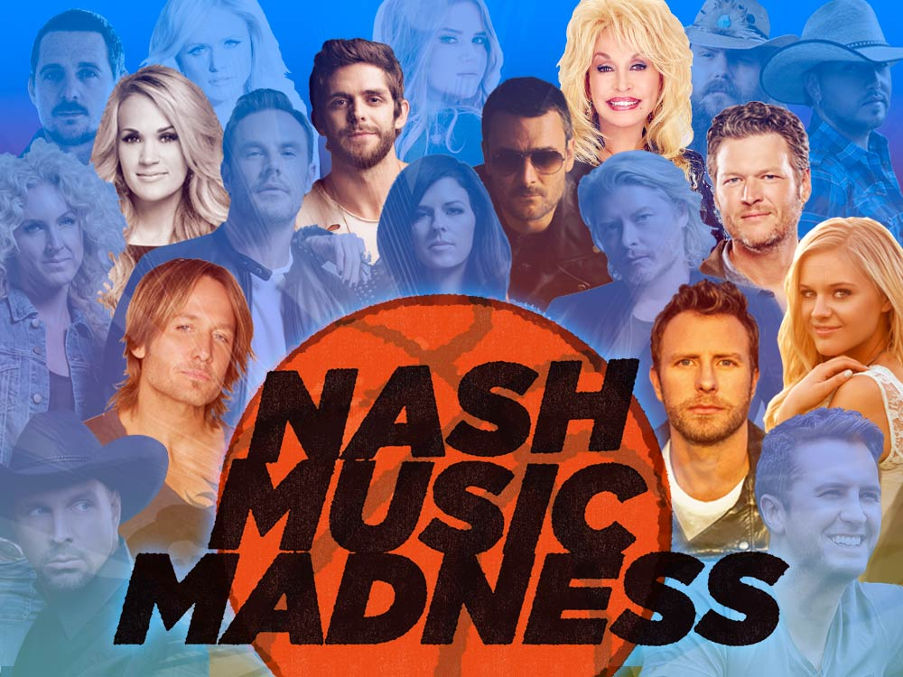 Vote Now: Round 2 of the 3rd Annual Nash Music Madness Championship—Carrie, Keith, Kelsea, Blake, Dolly & More