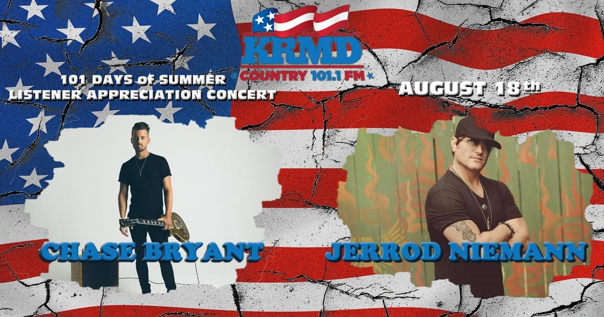 Want VIP access to this years' KRMD 101 Days of Summer FREE Concert????