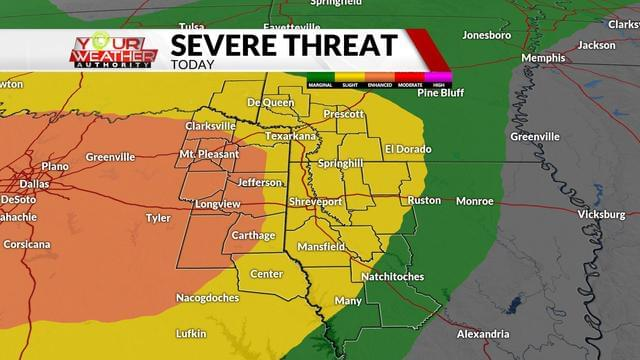 #WeatherAlert:  Severe Weather Is Possible Tonight!
