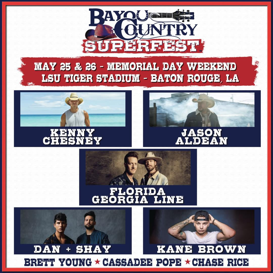 Win Tickets To The Bayou Country Superfest!
