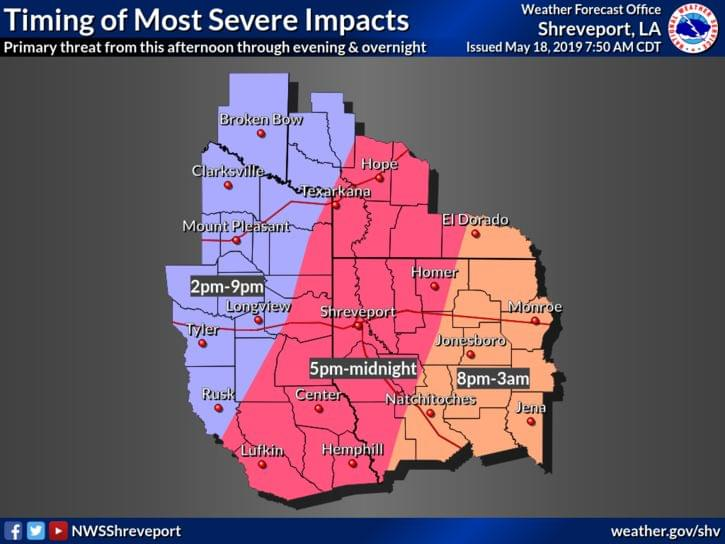 WEATHER ALERT DAY: Severe Weather Is Possible Today!