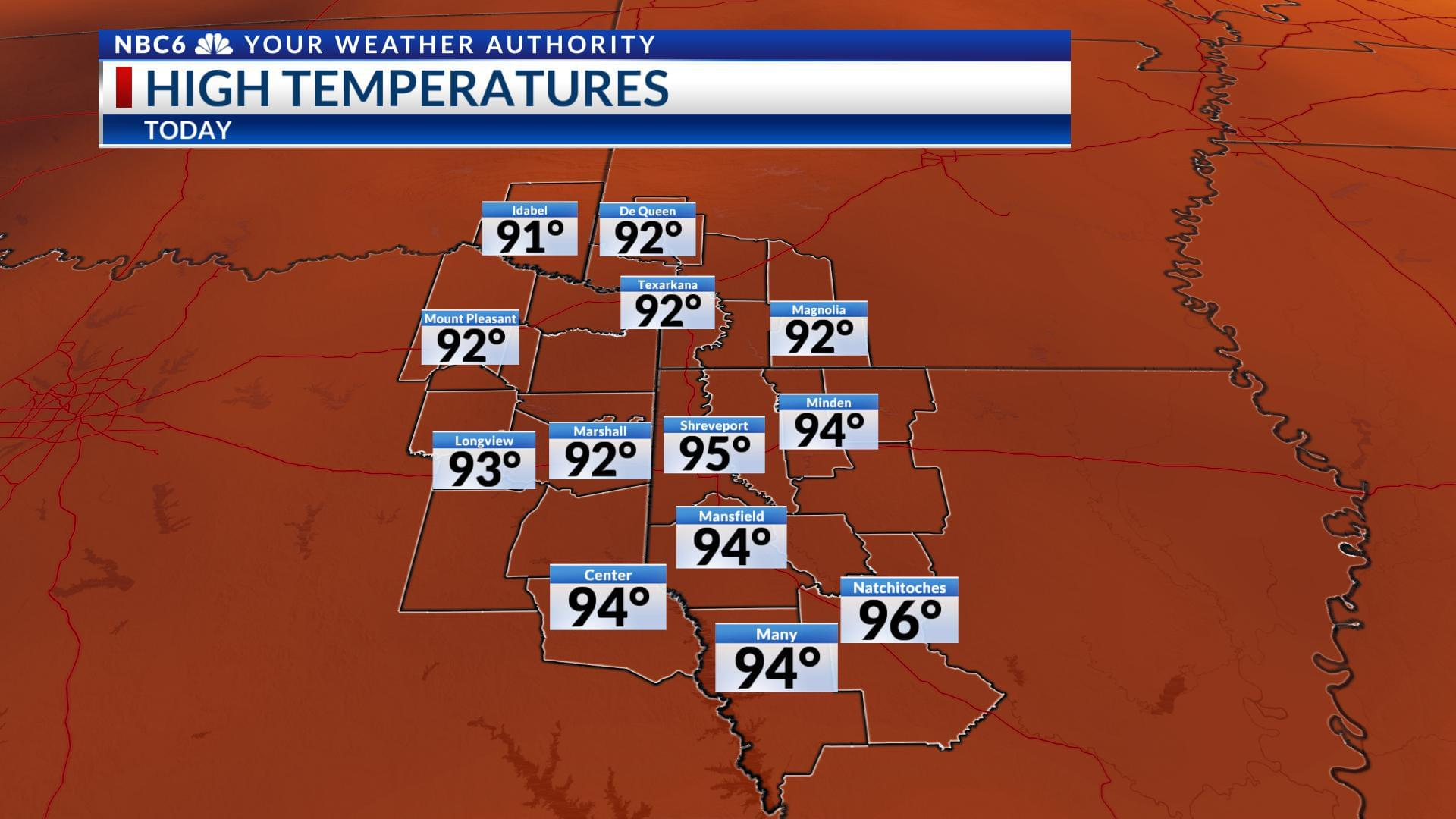 A Heat Advisory Is In Effect For The ArkLaTex Today!