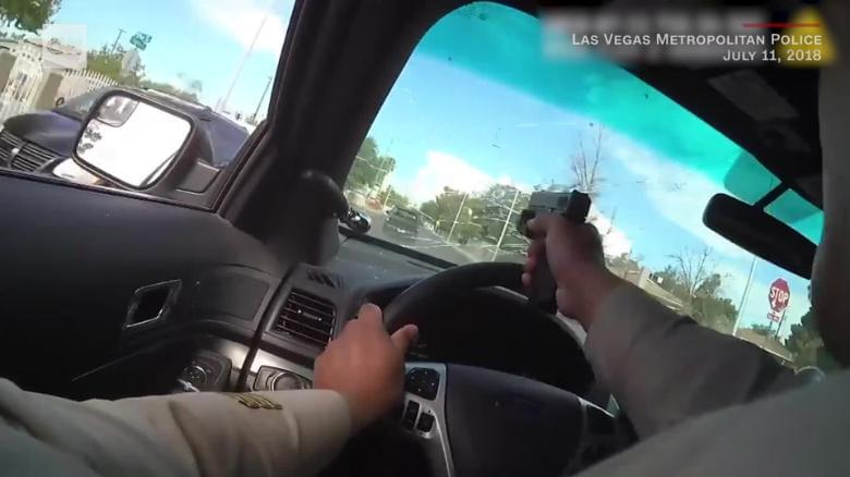 Police shoot through windshield in chase
