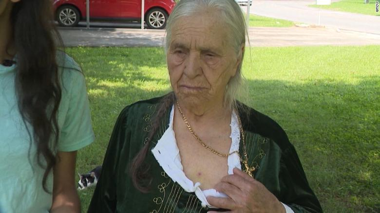 Police use Taser on 87-year-old woman cutting dandelions with a knife.