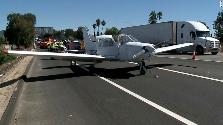 Plane Lands in Traffic on California Highway