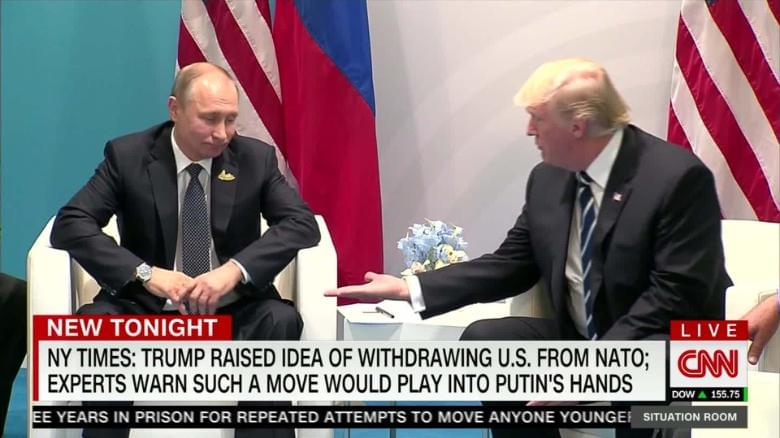 Gift to Putin? Trump considered quitting NATO