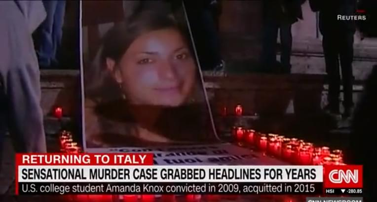 AMANDA KNOX RETURNS TO ITALY YEARS AFTER ACQUITTAL