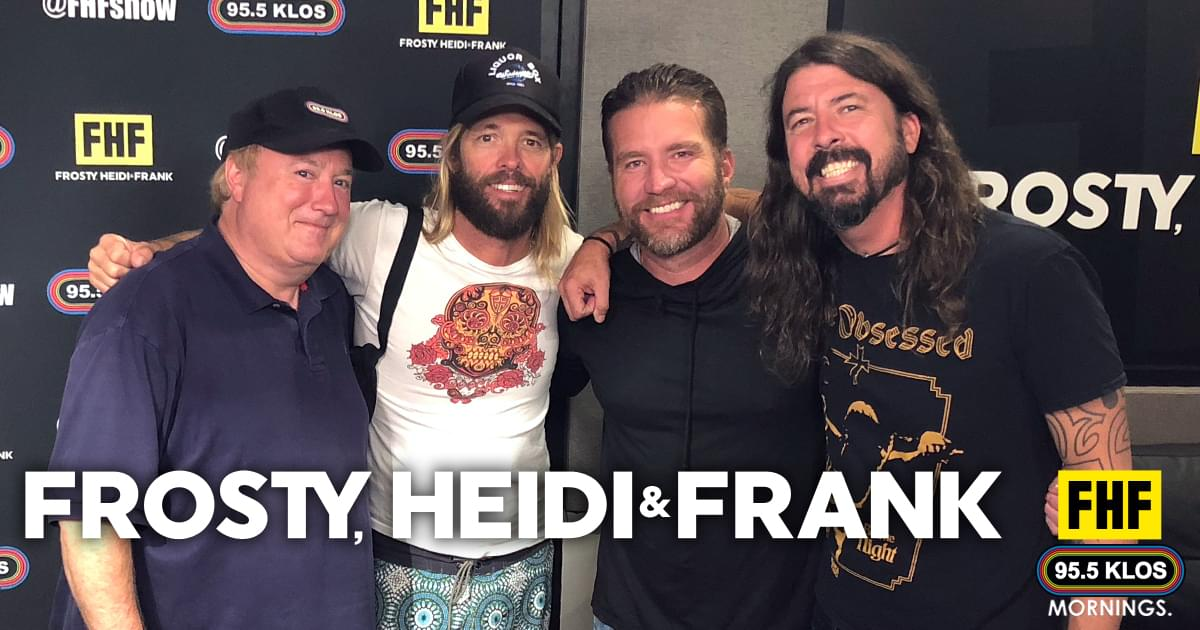 Frosty, Heidi and Frank with guests Dave Grohl and Taylor Hawkins
