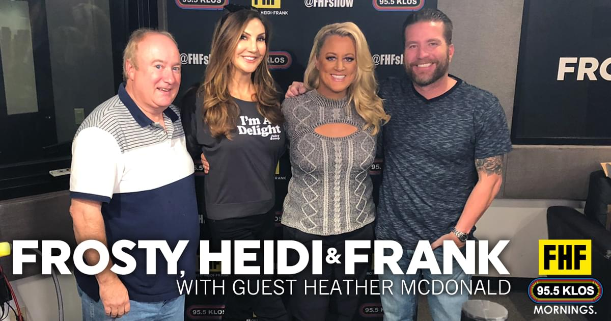 Frosty, Heidi and Frank with guest Heather McDonald
