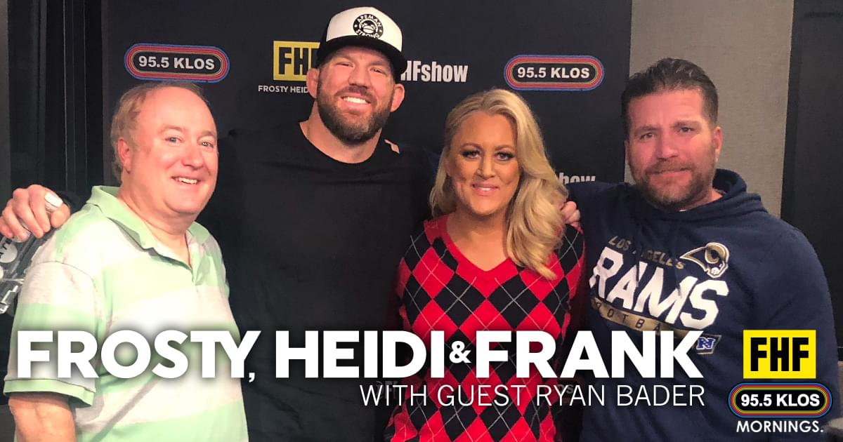 Frosty, Heidi and Frank with guest Ryan Bader