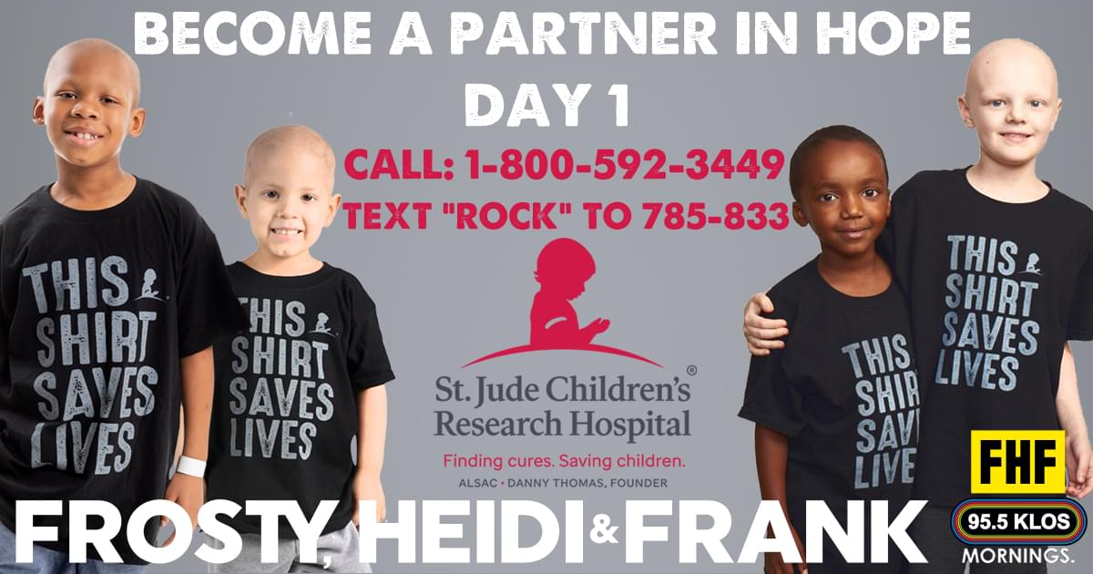 St. Jude Rocks KLOS – Become A Partner In Hope Today. Day 1