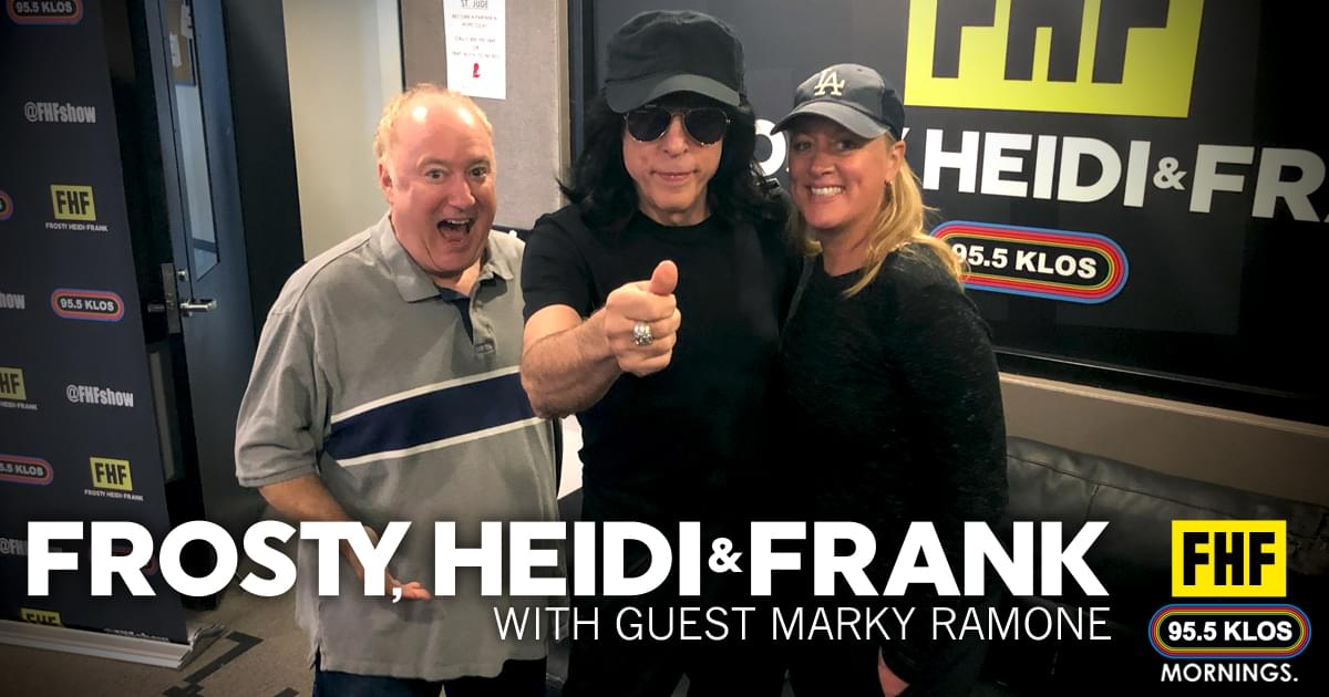 Frosty, Heidi and Frank with guest Marky Ramone