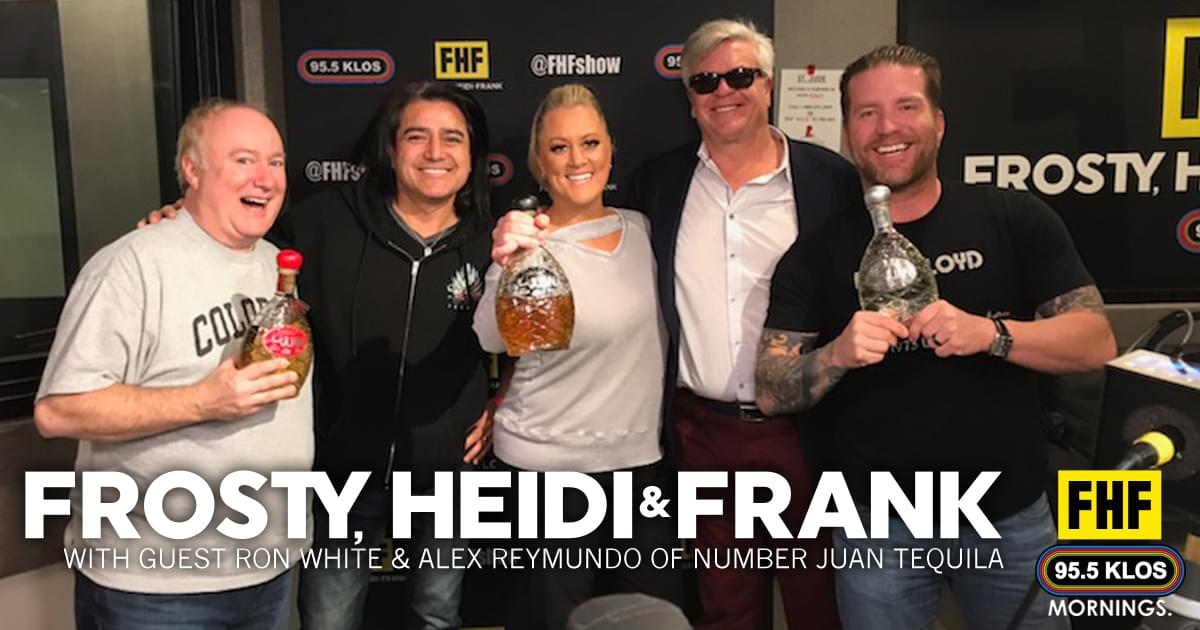 Frosty, Heidi and Frank with guest Ron White and Alex Reymundo with Number Juan Tequila