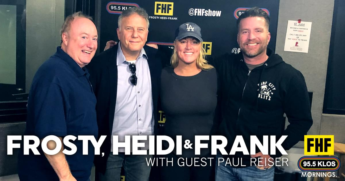 Frosty, Heidi and Frank with guest Paul Reiser