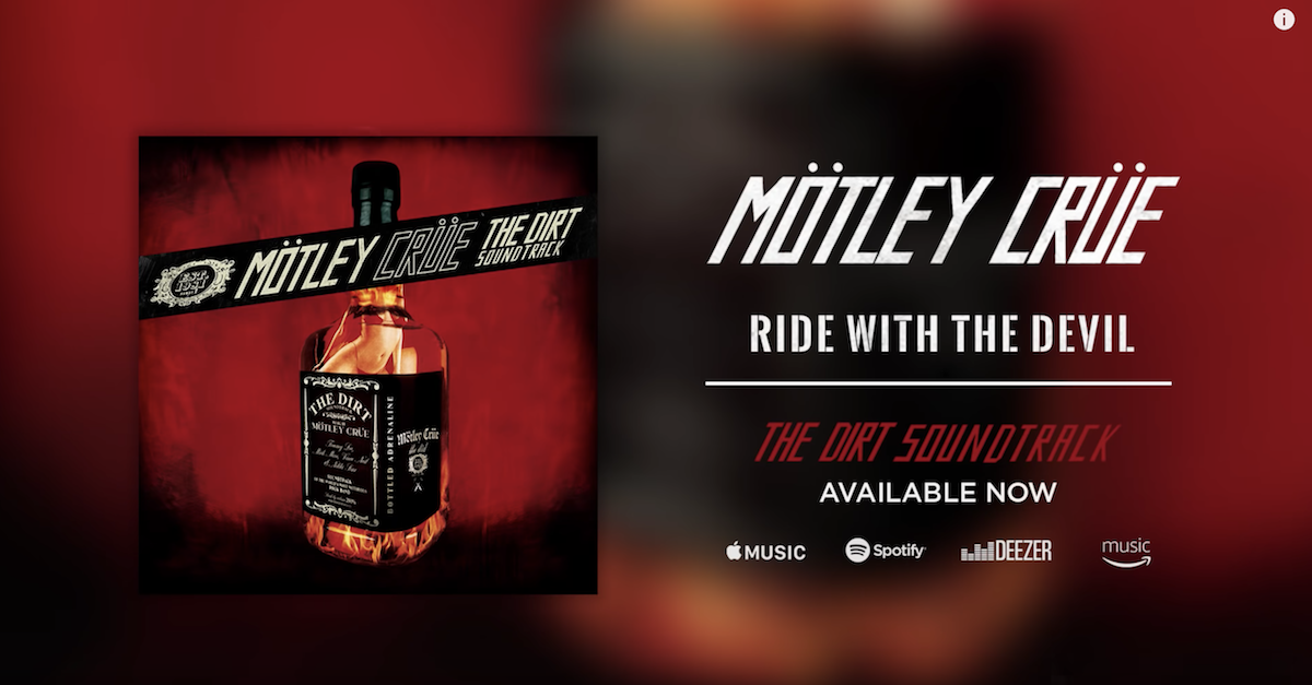 "Mötley Crüe Releases Two More Songs From ""The Dirt"" Soundtrack"