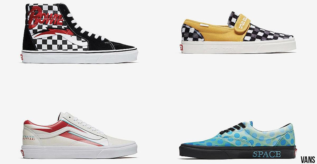 Vans Releasing David Bowie-Themed Sneakers