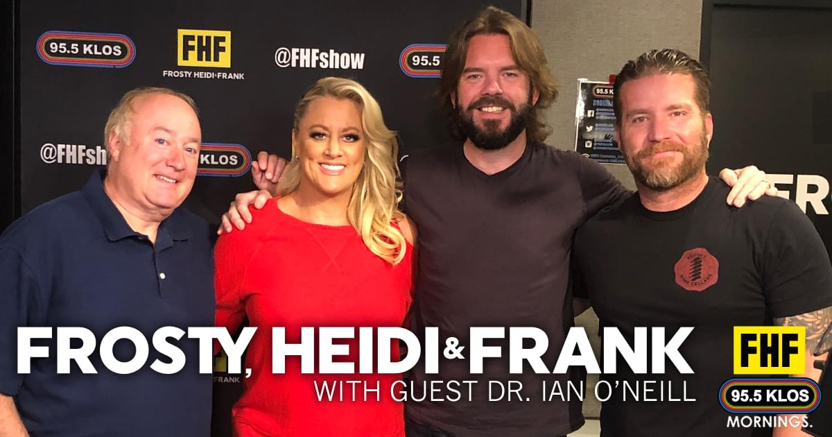 Frosty, Heidi and Frank with guest Dr Ian O'Neill