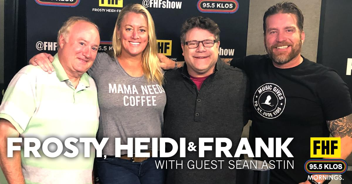 Frosty, Heidi and Frank with guest Sean Astin