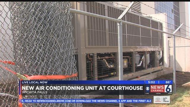 New Air Conditioning Unit Installed At Wichita County Courthouse