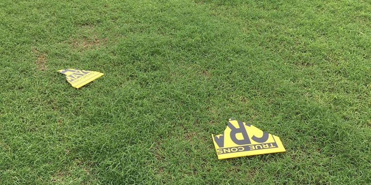 Wichita Falls Mayoral Candidate's Campaign Signs Vandalized