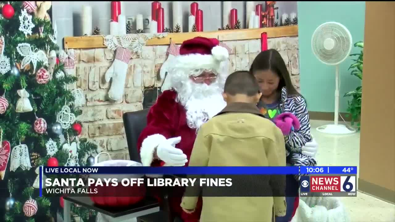 Santa Pays Off Late Fees At Wichita Falls Public Library