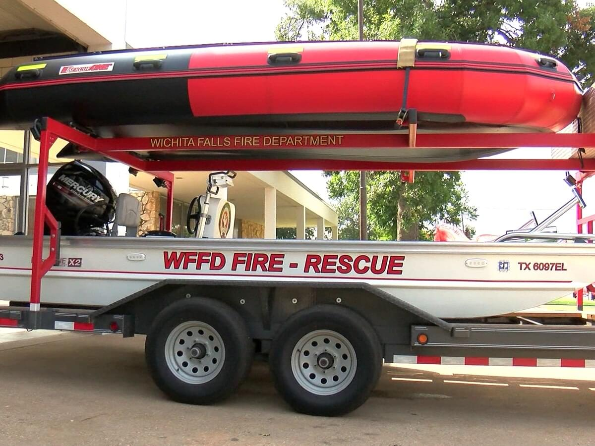 Wichita Falls Fire Department Gets New Water Rescue Boats