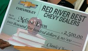 Teachers Get Big Award From Red River Chevy Dealers