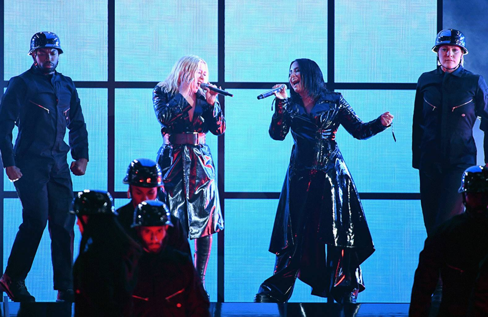See Christina Aguilera, Demi Lovato's Rousing 'Fall in Line' Duet At BBMAs