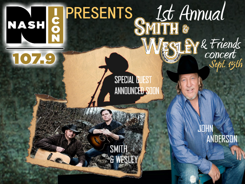 September 15th, Smith & Wesley and Friends @ NW GA Amphitheater
