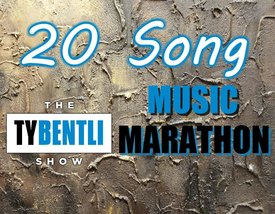 20 Song Music Marathon, 9am-10am