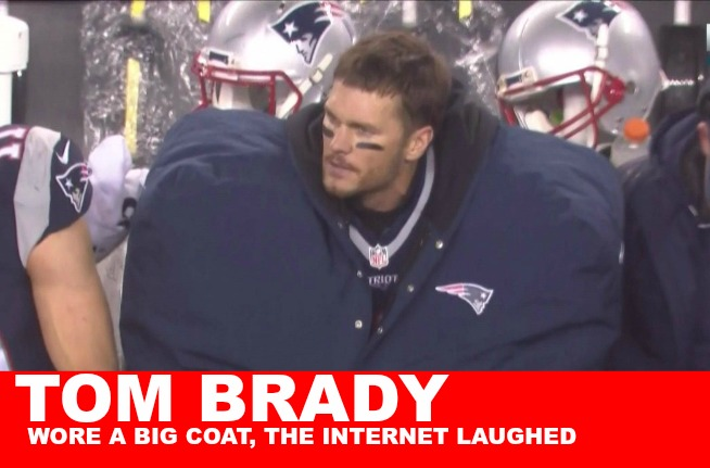NFL: What was Tom Brady hiding in that giant coat?