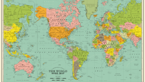 World Map Made up of Nothing but Song Titles | 101WKQX | WKQX-FM