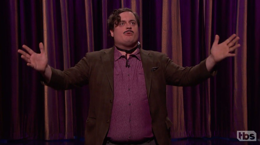 Comedian Ian Abramson gets electrocuted during performance on 'Conan'