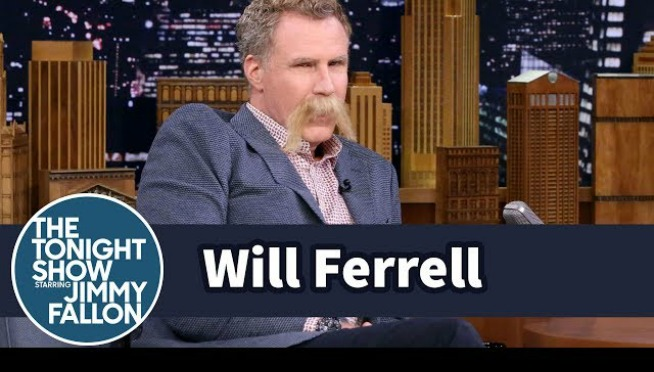 Will Ferrell vs Jimmy Fallon! Mustache vs Mustache!