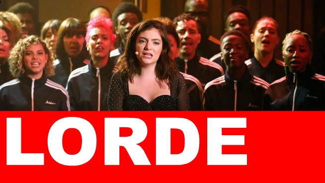 Lorde reveals her 'work husband' from a big band + performs on 'Late Night'