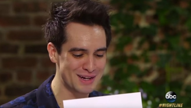 Brendon Urie Opens Fan Mail On Nightline