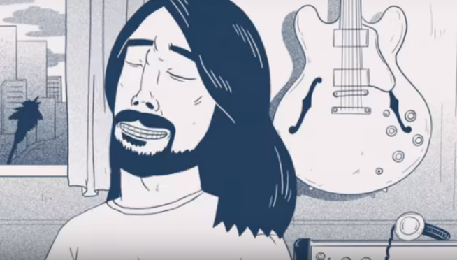 Animated Dave Grohl Explains Foo Fighters Concrete Gold