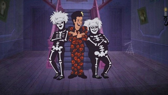Watch the 'David S. Pumpkins Halloween Animated Special' ANY QUESTIONS?