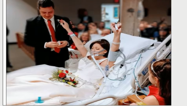 Woman fighting cancer, marries in hospital hours before her death
