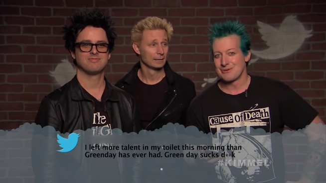 Green Day, Blink-182, & Fall Out Boy  Read 'Mean Tweets'