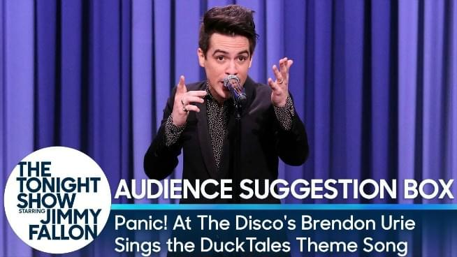 Watch Panic's Brendon Urie Sing 'Ducktales' Theme On Tonight Show