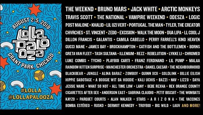 Lolla Daily Lineups Are HERE!