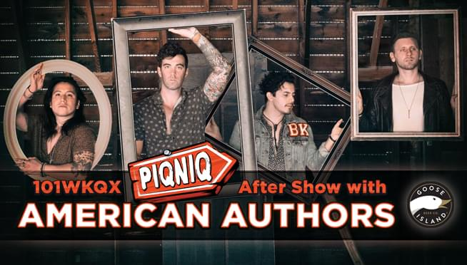 6/30/18 – PIQNIQ After Show with American Authors