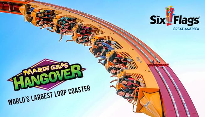 Win Tickets to Six Flags to experience the NEW Mardi Gras Hangover Rollercoaster!