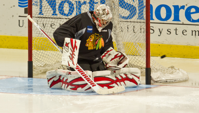 Former Blackhawks goalie dies in drowning accident.