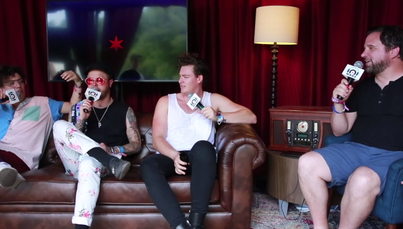 Lollapalooza: lovelytheband talks about Lolla the show (backstage interview with Brian)
