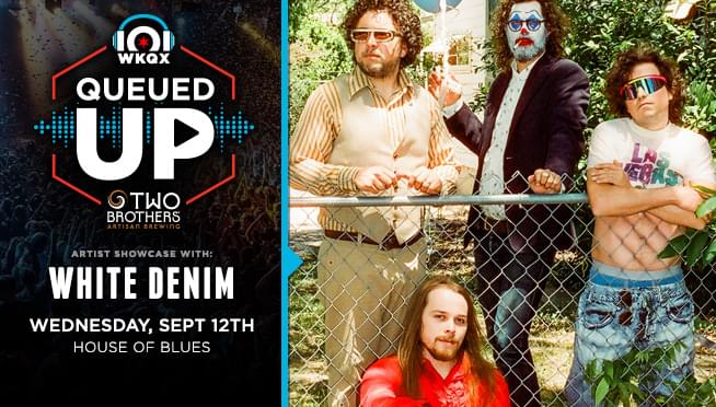9/5/18 – Win Queued Up – White Denim Tickets from Two Brothers Artisan Brewing!