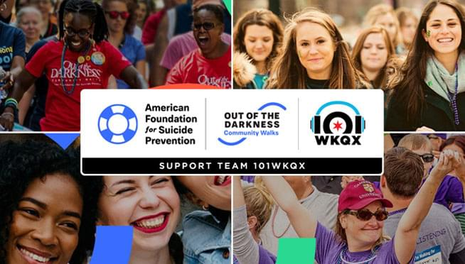Join Team 101WKQX at the Out Of The Darkness Walk