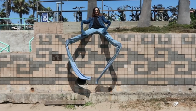 Nine foot long jeans exist, here's what it's like to wear them